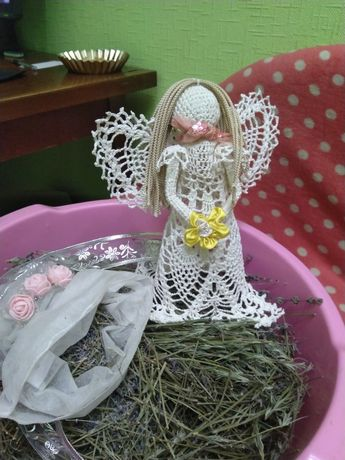 Продам лаванду цветы сушеные экочистые+ ангел 20*23см, цена 200 грн