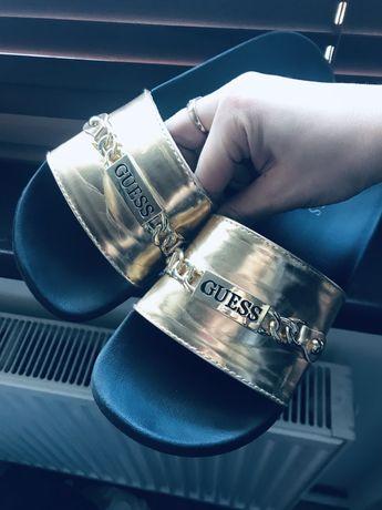 Klapki damskie Guess 36 złote