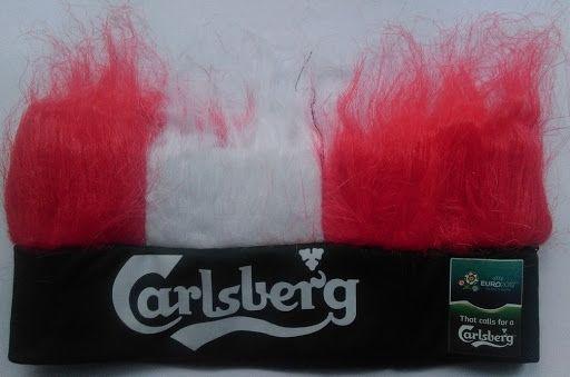 """czapka/opaska Carlsberg Euro 2012 """"włosy"""""""