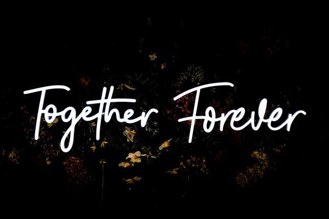 Napis Together Forever RGB Led Ledon Neon - wynajem | Wybierz Słowo!