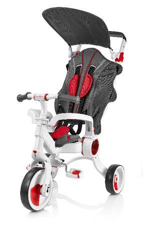 Trójkołowy wózko rowerek biegowy Galileo czerwony