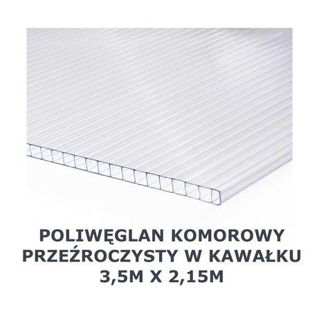 Poliwęglan komorowy przeźroczysty gr. 10mm (płyta 3,5m x 2,15m)