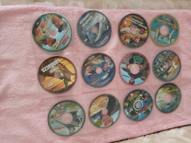 Plytki DVD z wędkowaniem dużej ryby oraz dużo radości z wedkowania