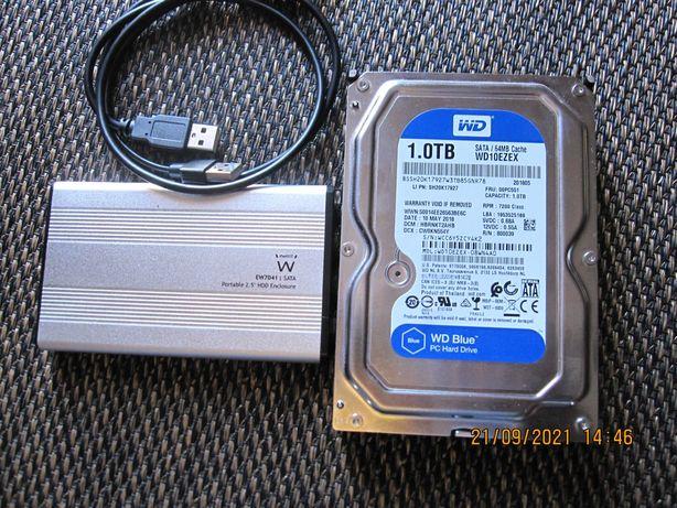 """Discos Externos : 1 TB, 3,5""""; 1 TB, 2,5"""" com caixa de armazenamento"""