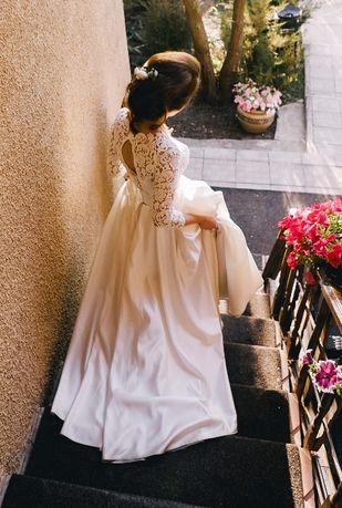 Бесплатная доставка! Красивое и удобное свадебное платье на 44-46 р