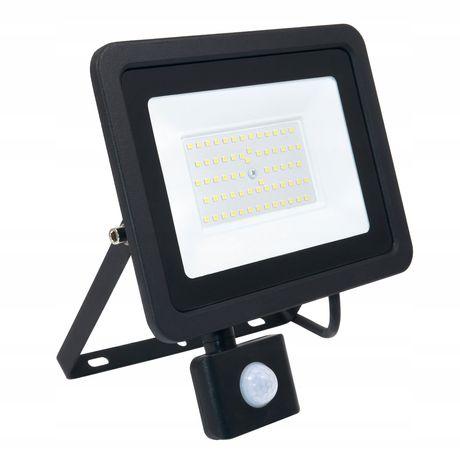 Naświetlacz halogen LED 50W z czujnik PREMIUM 0206 zimna neutralna