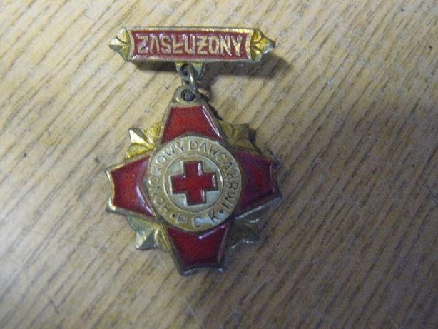 Honorowy dawca krwi PCK odznaka medal