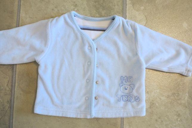 Bluza welur sweter niebieski 56 cm
