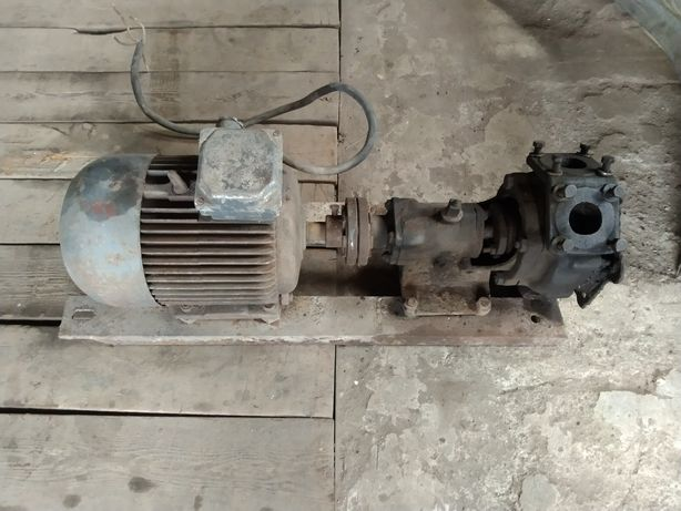 Електродвигатель 5.5кВт 380v с помпой, насос, помпа, электродвигатель