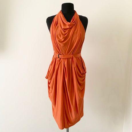 Bottega Veneta платье шелк Brunello Cucinelli