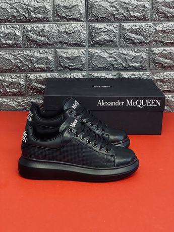 Кожаные кроссовки Alexander McQueen Кожа! Осень! Все размеры! Скидка!