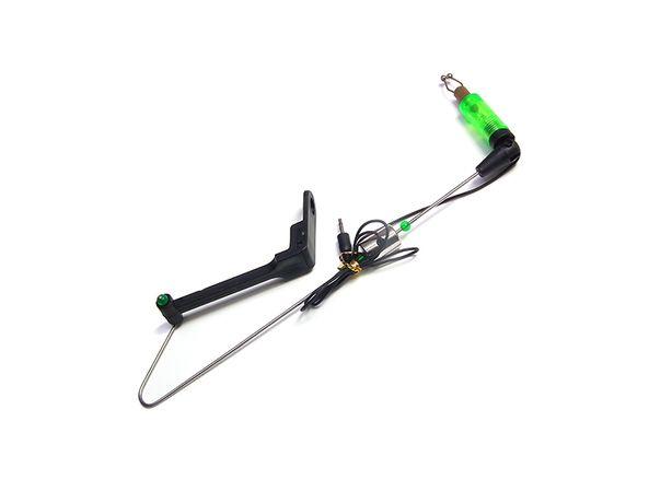 Swinger z diodą zielony, stalowa końcówka 280499