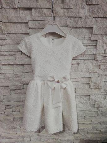 Sukienka biała koronkowa, rozmiar 98