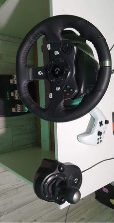Xbox one s i kierownica logitech g920