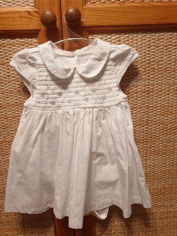 Piękna sukienka z body na chrzest, roczek Exclusive Mothercare r. 80