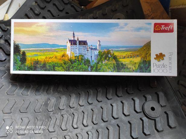 Nowe Trefl Zamek Neuschwanstein puzzle panorama 1000 el. Folia na opak