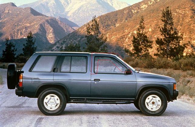 Borrachas de vidros porta Nissan Terrano 1 e Pickup D21