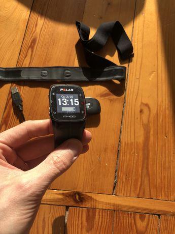 Zegarek POLAR M400 czarny, sport, GPS, tętno, triathlon stan b.dobry