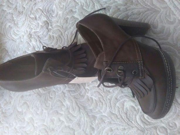 Buty na obcasie nowe z metka