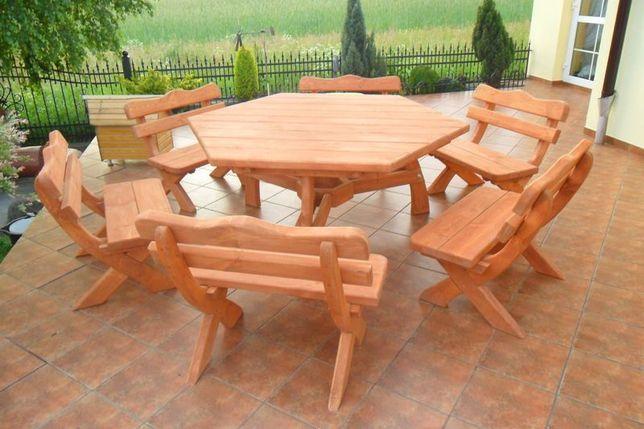 Komplet meble ogrodowe zestaw ogrodowy stół SZEŚCIOKĄT taniej o 200z