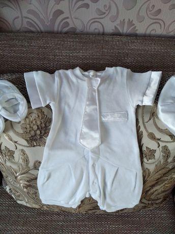 Крестильный костюмчик троечка для мальчика