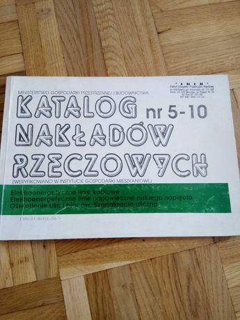 Katalog nakładów rzeczowych, elektroenergetyczne linie kablowe...
