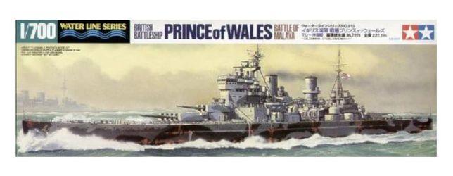 1/700 British Battleship Prince of Wales Battle of Malaya Tamiya 31615