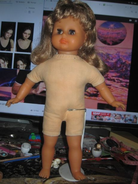 Кукла ГДР мягконабивная 45см.