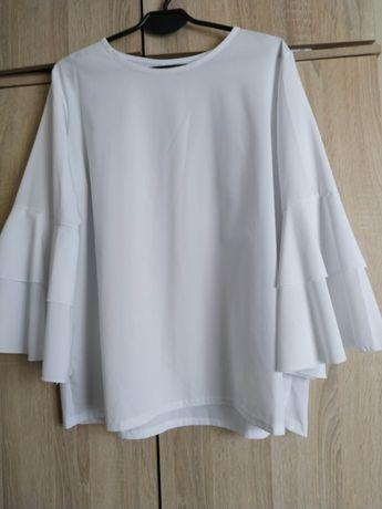 Elegancka lejąca biała bluzka 46