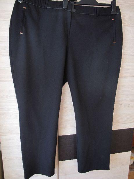 spodnie czarne 52 pas 120 biodra 136-146 zwężane eleganckie wizytowe