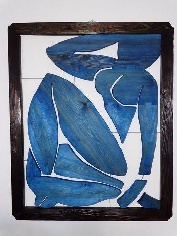 Drewniany obraz. Henri Matisse. Femme bleue.