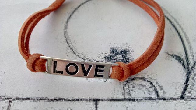 подарок влюбленным любимой экозамша браслет love любовь