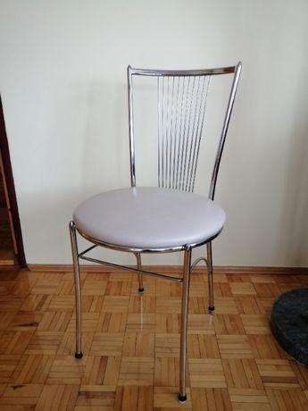 Stołek krzesło stal chrom 4 szt.