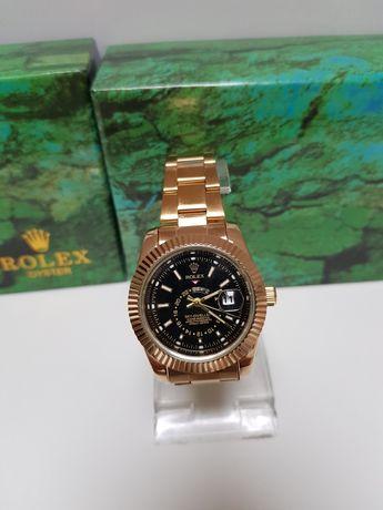 Zegarek męski Rolex Sky diveller nowy kolor złoty  Super