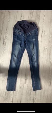 Ciażowe spodnie M h&m przetracia jeansy