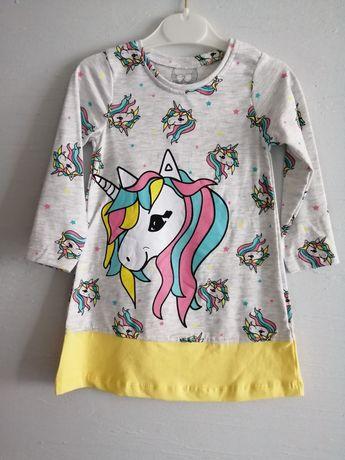 Nowa tunika dla dziewczynki unicorn pony 92 i 98