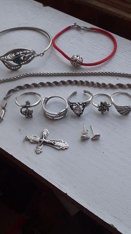 Серебро кольцо браслет серебряный лот серебра