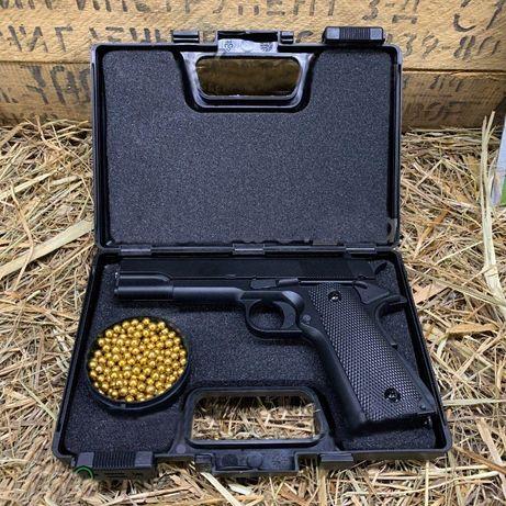 Пистолет пневматический,металический,Airsoft Gun(страйкбольный)