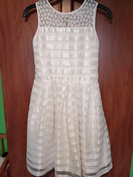 Sukienka ecru rozmiar 158