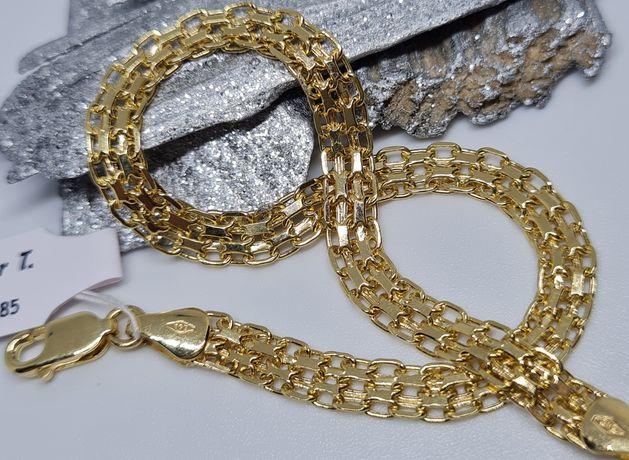 Złota CUDNA bransoletka BISMARCK pr.585 zobacz koniecznie!