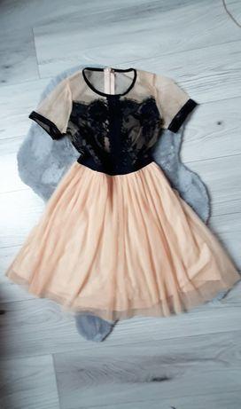 Nowa piękna sukienka z tiulem