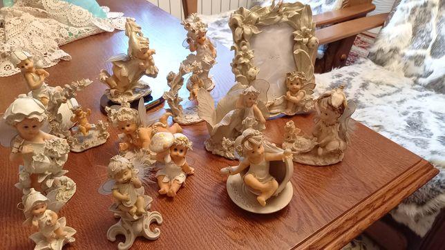 Figurki zestaw aniołki ramka