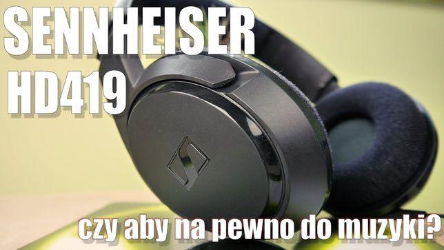 Sennheiser Hd- 419 słuchawki, kabelek pęknięty