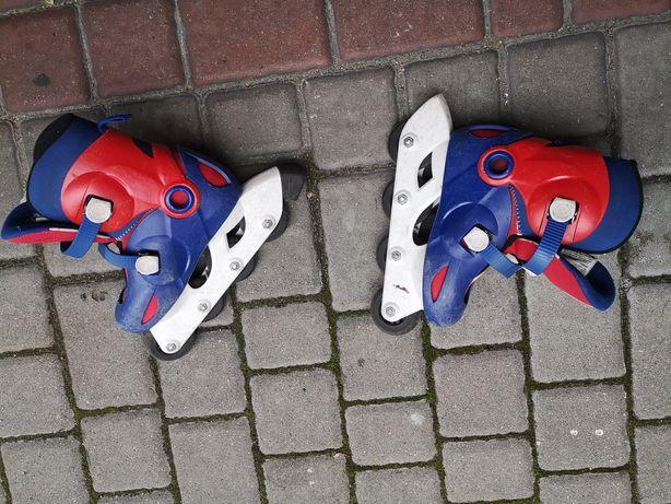 Rolki oxelo 30-32z ochraniaczami na łokcie i kolana