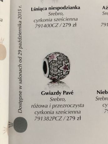 Pandora Pave różowe gwiazdki