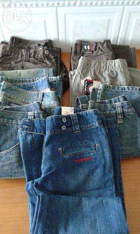 calças, vários modelos femininos, de marca