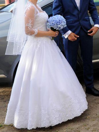 suknia ślubna koronka regulowana