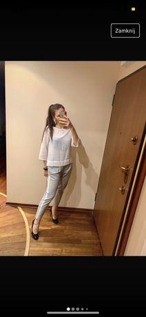 elegancka biala bluzka mango biurowa XS do pracy