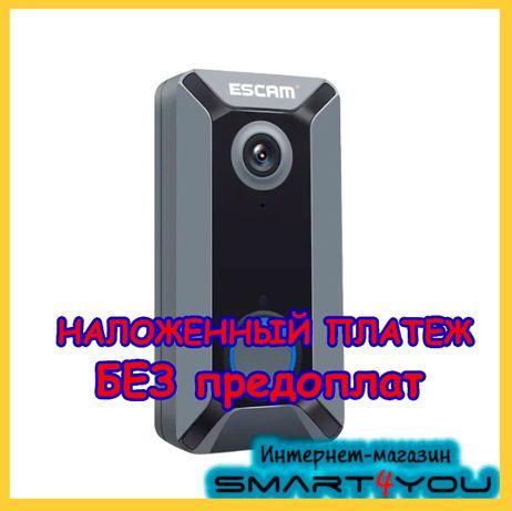 Видеодомофон дверной звонок Escam v6 wifi домофон Влагозащита вайфай