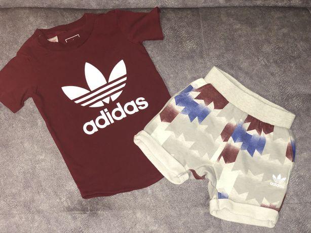 Летний костюм Adidas ( оригинал ) футболка шорты 1,5 - 2 года